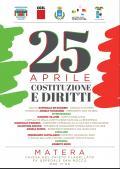 25 aprile - Festa della Liberazione: COSTITUZIONE e DIRITTI
